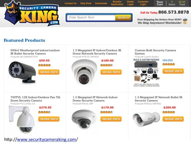 Security Camera King Feature Items Catalog