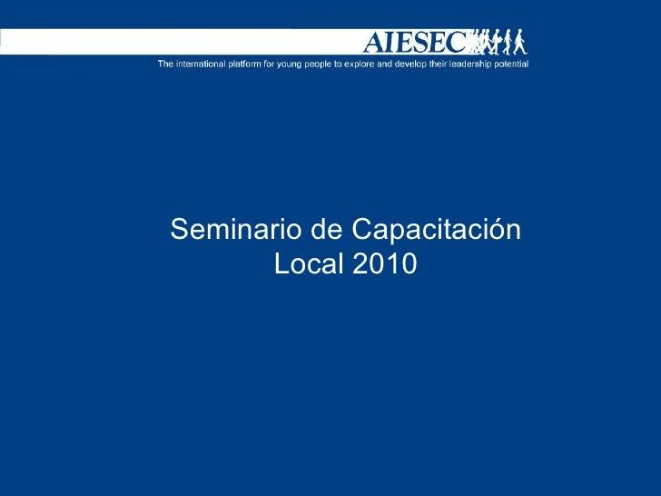Seminario de Capacitación Local 2010
