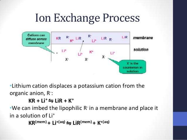 Ion Exchange Process Ppt Ion Exchange Process•lithium
