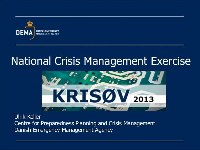 OECD Strategic Crisis Management Workshop, presentation by Mr. Ulrik Keller