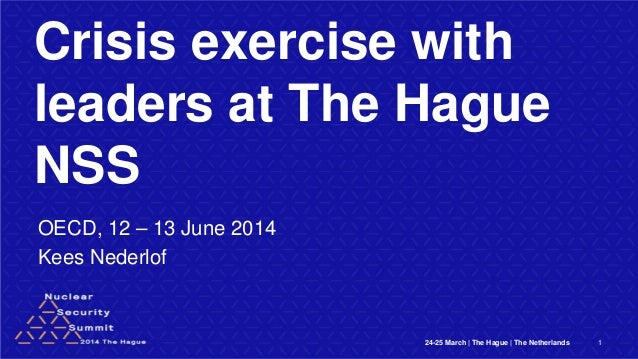 Crisis exercise with leaders at The Hague NSS OECD, 12 – 13 June 2014 Kees Nederlof 24-25 March | The Hague | The Netherla...