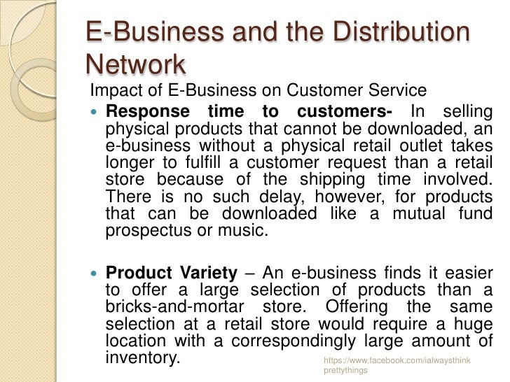 the impact of e business on an