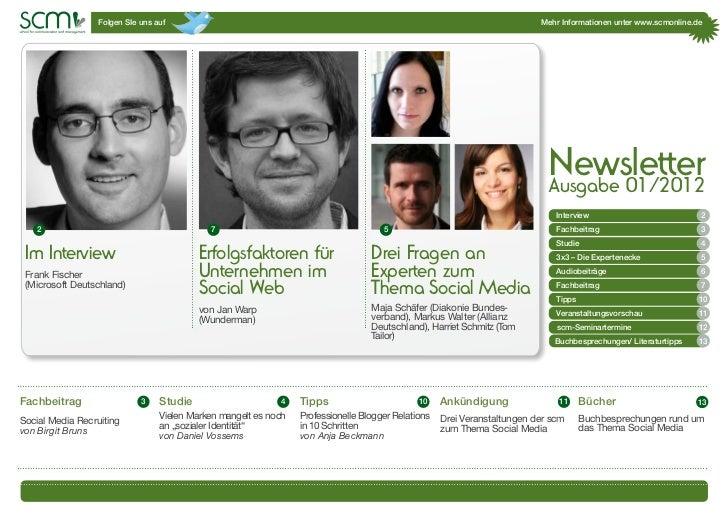 scm-Newsletter 1/2012