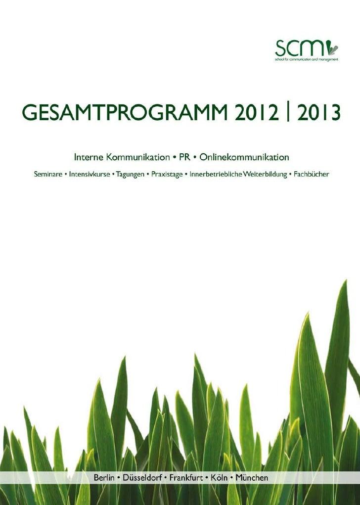 scm-Gesamtprogramm 2012/ 2013
