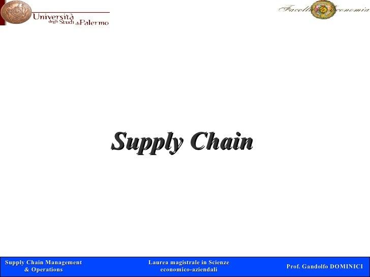 Supply Chain    Supply Chain Management      Laurea magistrale in Scienze                                                 ...