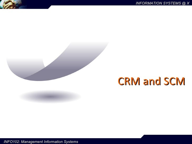 CRM and SCM