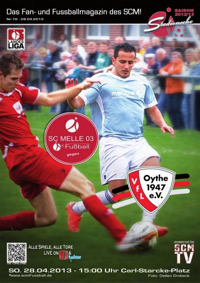 Ausgabe 16 –April 2013StadionEcho online scmFussball.de2