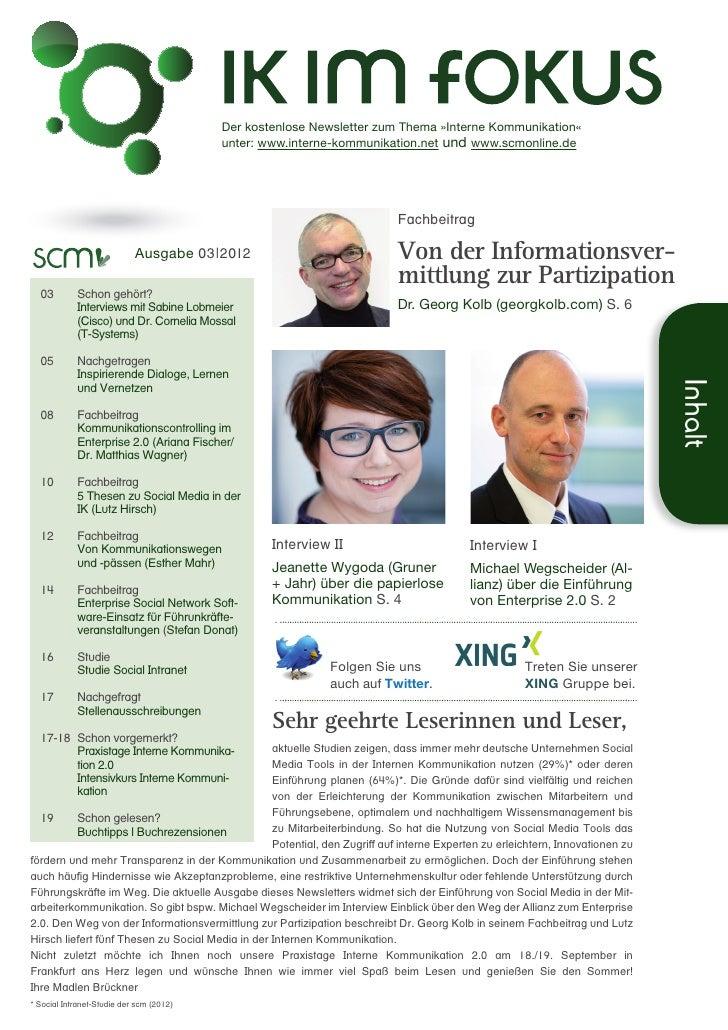 Der kostenlose Newsletter zum Thema »Interne Kommunikation«                                           unter: www.interne...