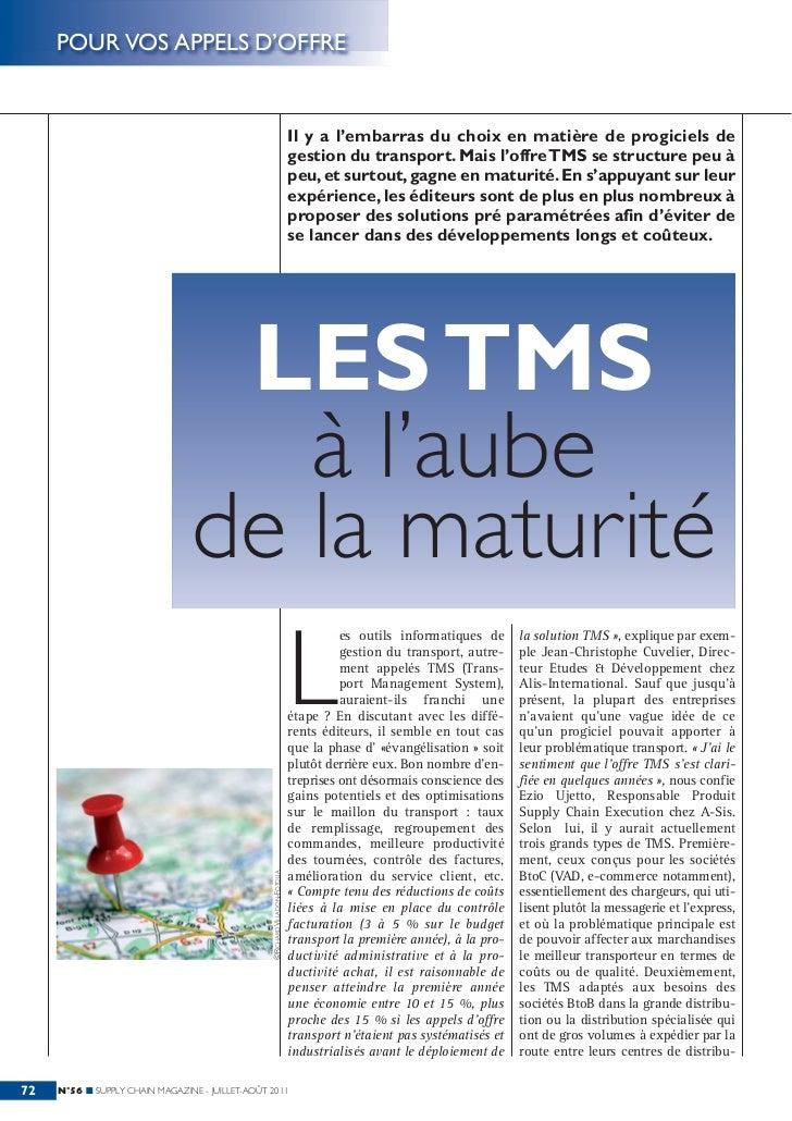 Supply Chain Magazine Juillet 2011