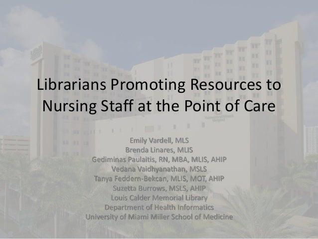 Scmla nursing huddles presentation