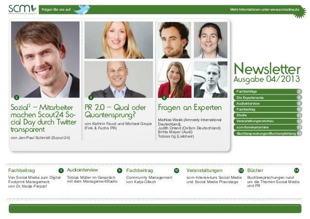 Folgen SIe uns auf Mehr Informationen unter www.scmonline.de1 Sozial2 – Mitarbeiter machen Scout24 So- cial Day durch Twit...