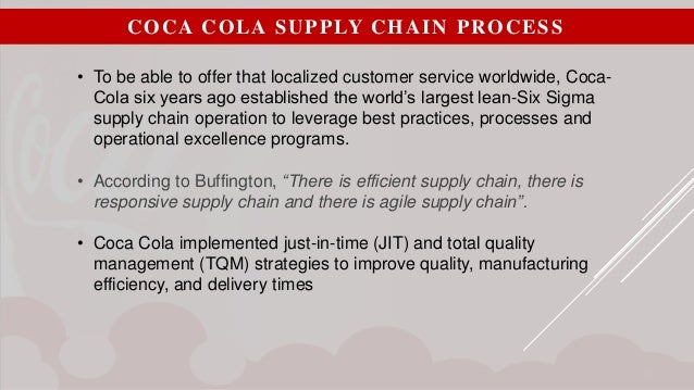 six sigma in coca cola Coca-cola is introducing customer journey mapping within their lean six sigma program to address areas where customer satisfaction scores look positive.