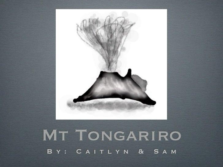 Mt Tongariro Eruption
