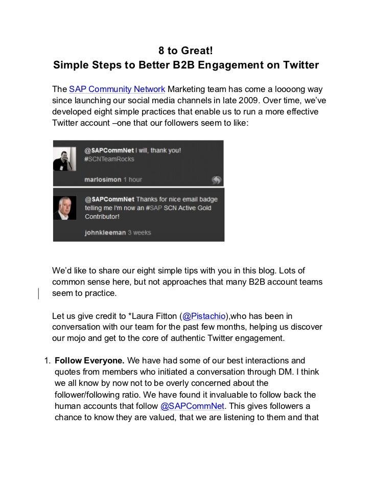 SCN Twitter Checklist