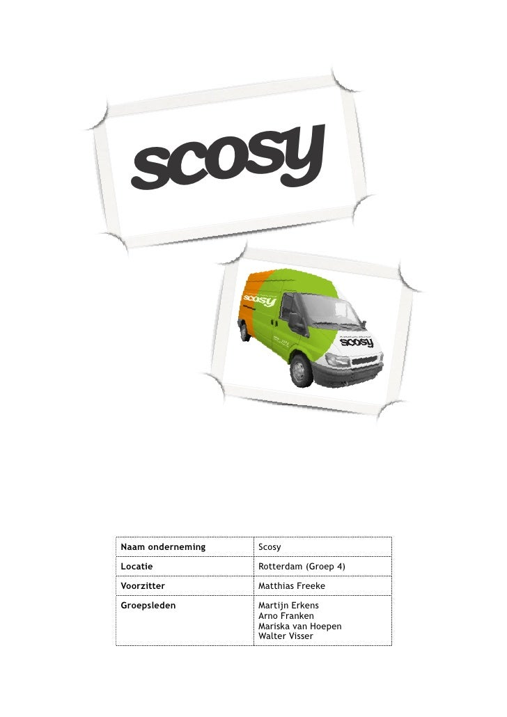 scosy      scosy    Naam onderneming   Scosy  Locatie            Rotterdam (Groep 4)  Voorzitter         Matthias Freeke  ...