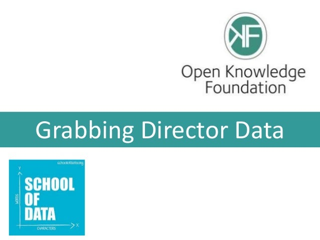 Grabbing Director Data