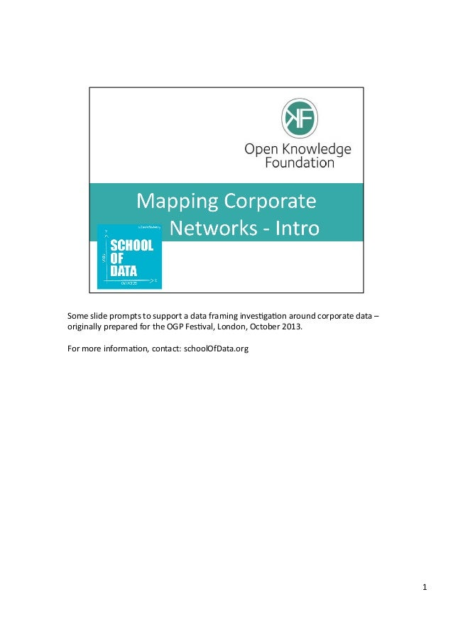 School of Data - mapping company networks