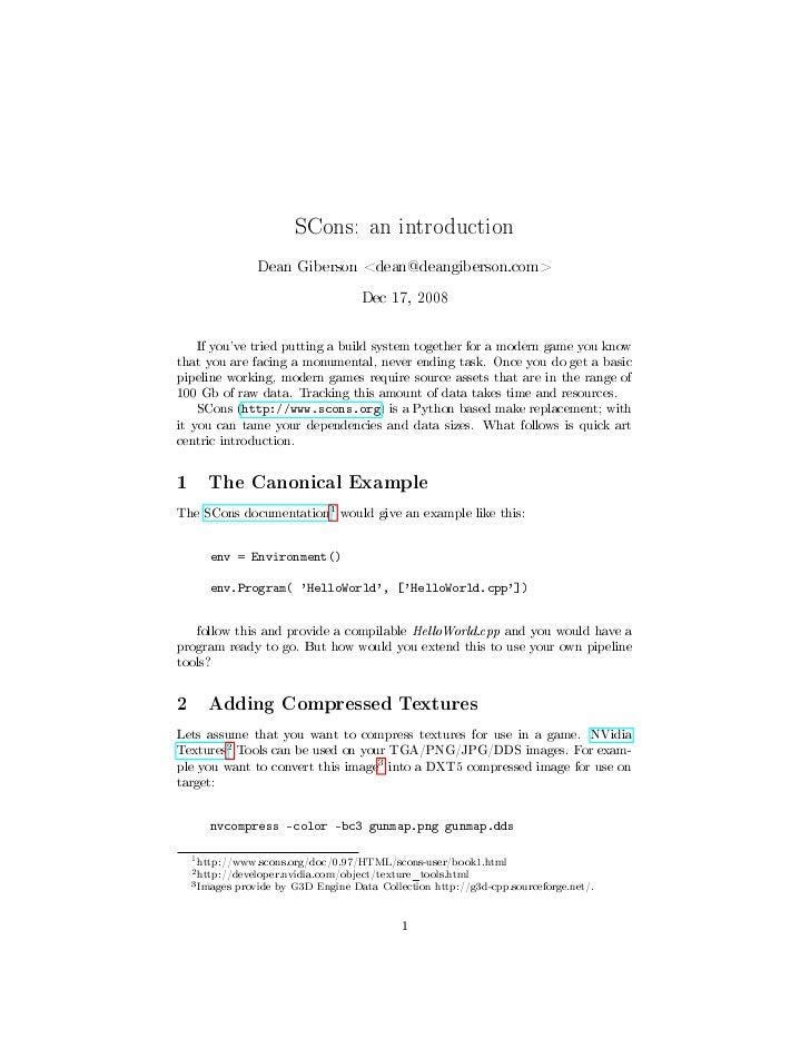 SCons an Introduction
