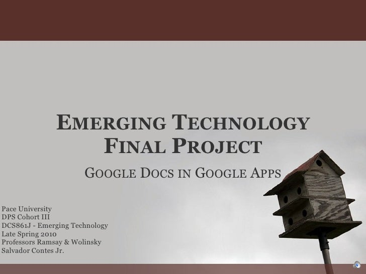 SContes Emerging Technology Final Project