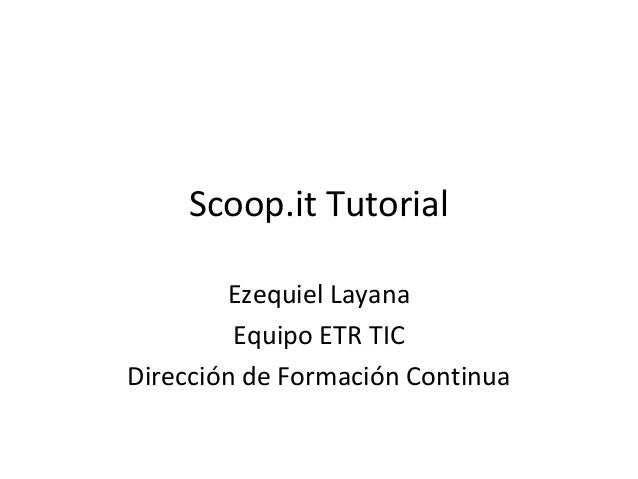 Scoop.it tutorial