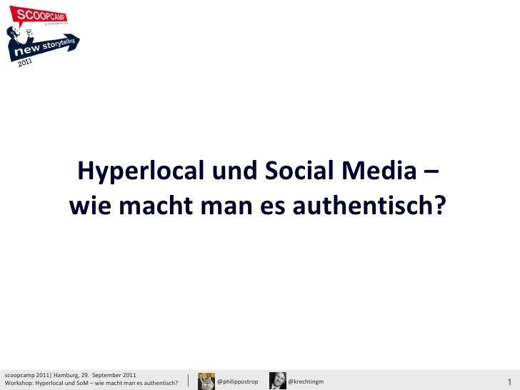 Hyperlocal und Social Media –                                                                                             ...