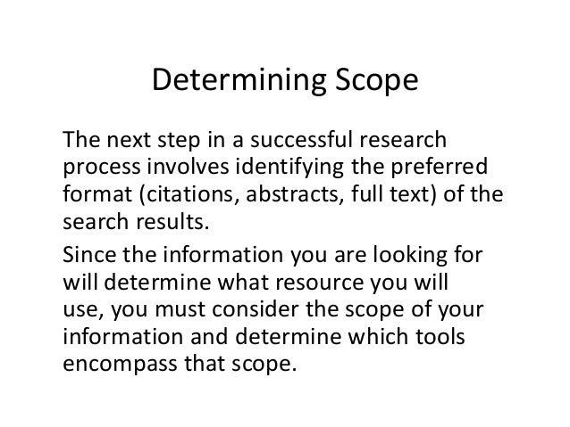 E-LEARN: Determining Scope