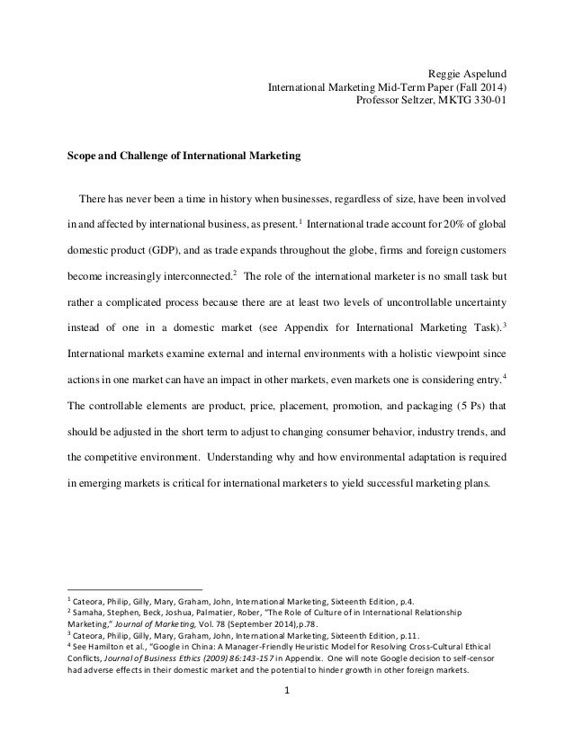 Scope of international marketing research