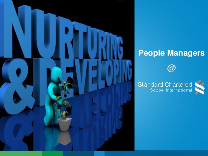 Developing People Managers- Scope International