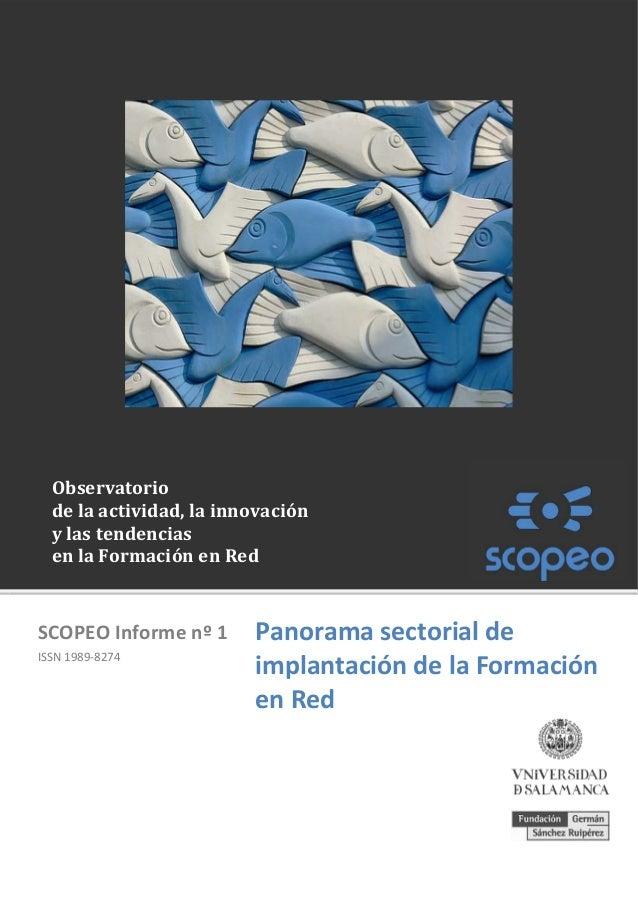 SCOPEO Informe nº1 - Panorama sectorial de implantación de la Formación en Red