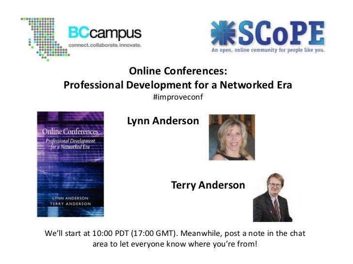 Online Conferences: Professional Development for a Networked Era
