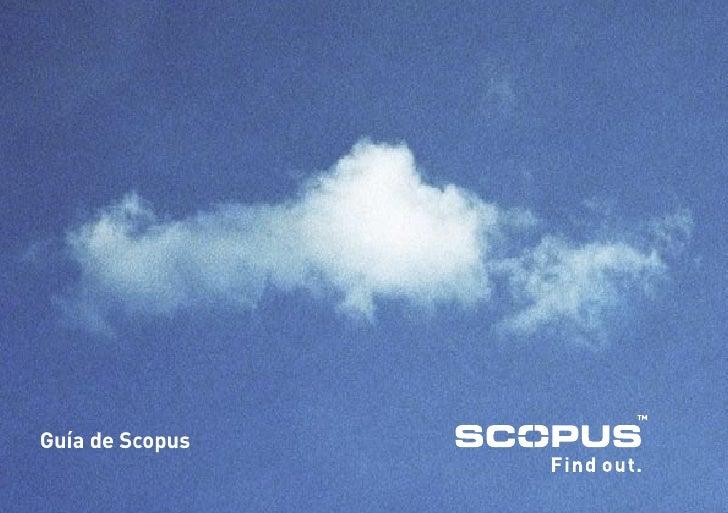 Guía de Scopus