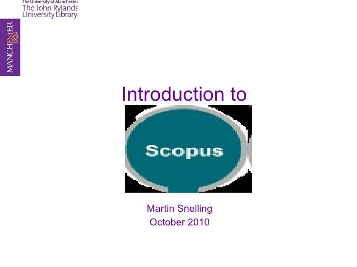 Introduction to  Martin Snelling October 2010