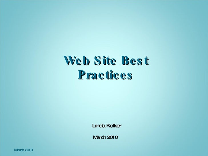 SCORE Team Cville: Best Practices For Web