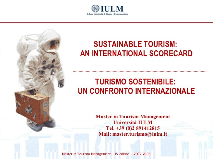 II Dossier Tourism and Sustainability: An international Scorecard