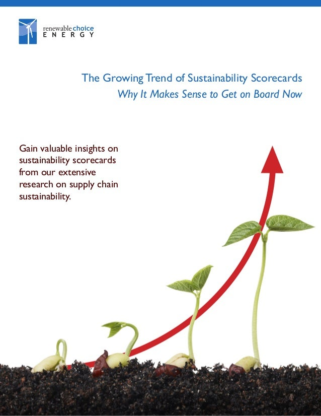 The Growing Trend of Sustainability Scorecards - White Paper