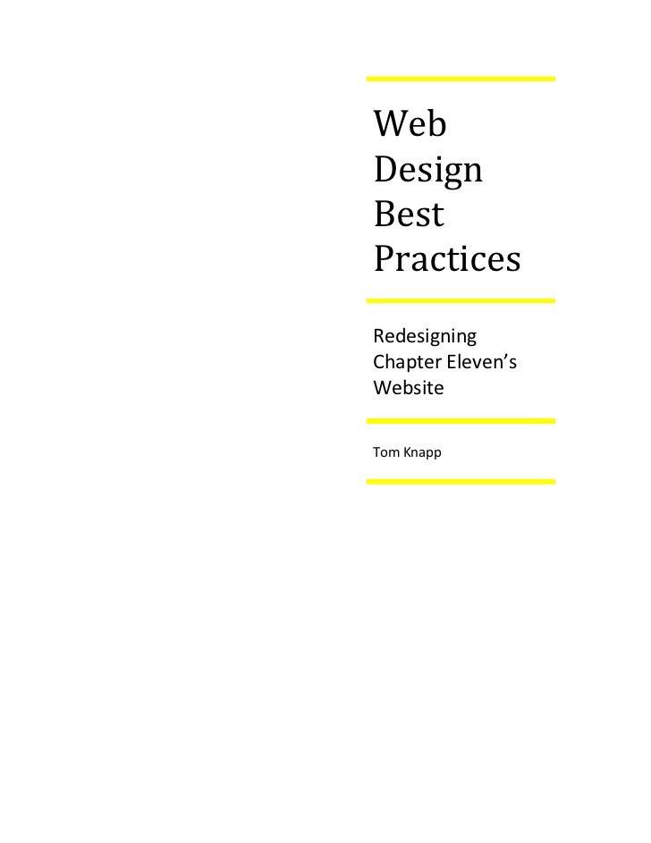 WebDesignBestPracticesRedesigningChapter Eleven'sWebsiteTom Knapp