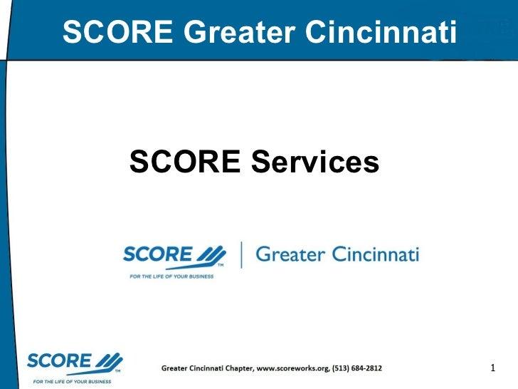 SCORE Services