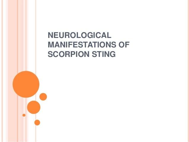 neurological manifestations of scorpion sting