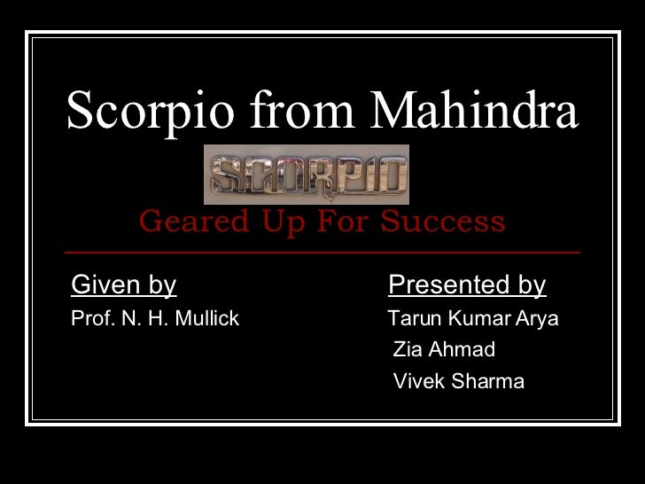 Scorpio From Mahindra