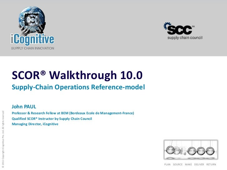 SCOR® Walkthrough 10.0                                                            Supply-Chain Operations Reference-model ...