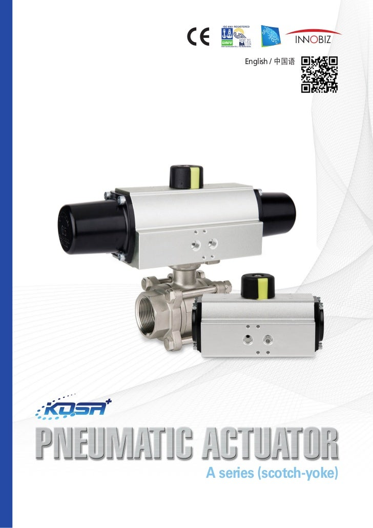 Pneumatic actuator (scotch-yoke)