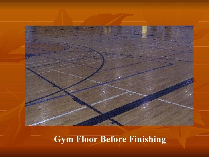 Gym Floor Before Finishing