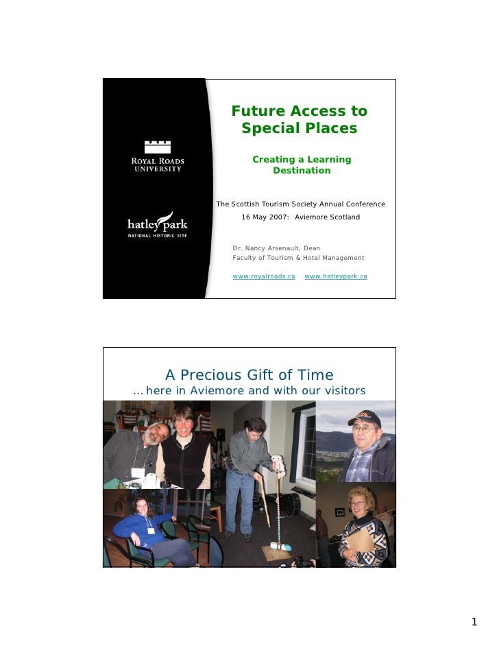 Future Access to Special Places: Creating a Learning Destination