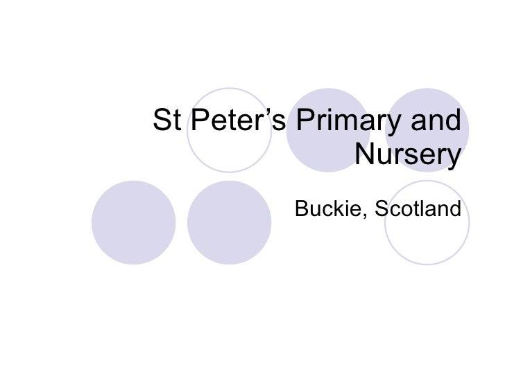 School Presentation St Peter's RC Primary School and Nursery