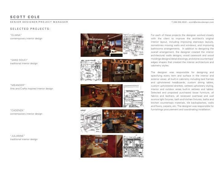 Scott Cole Portfolio Samples Overview
