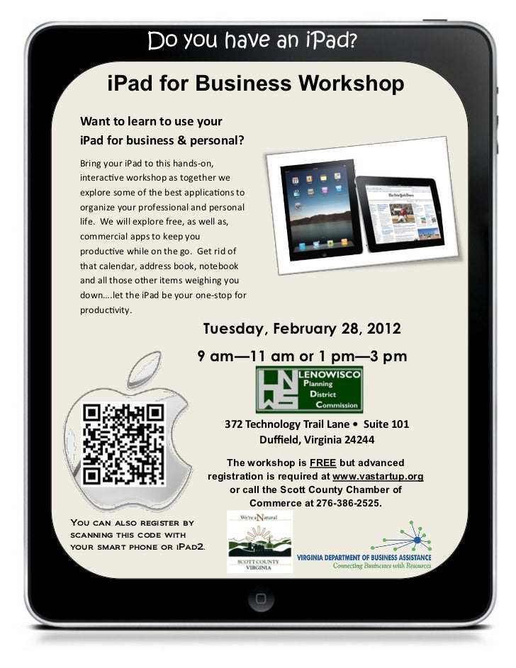 Scott County iPad Workshop, February 28, 2012