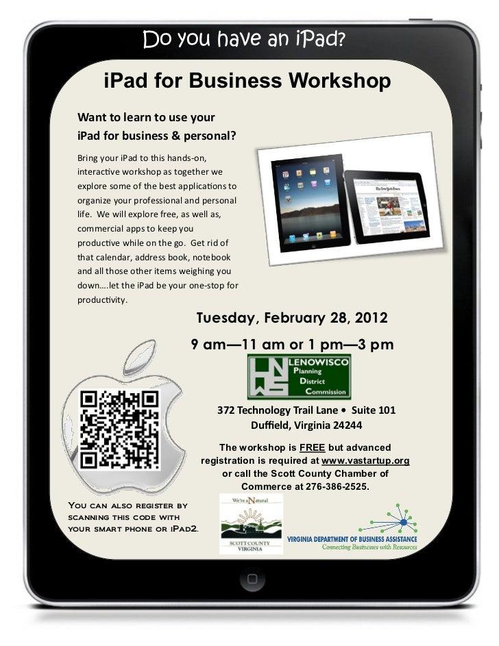 Scott County iPad Workshop, February 28, 2012
