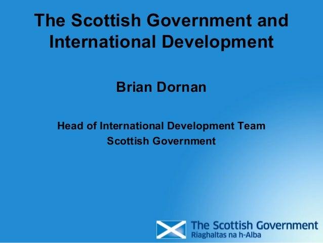 Effectiveness: Funder perspectives (B Dornan, Scottish Government)