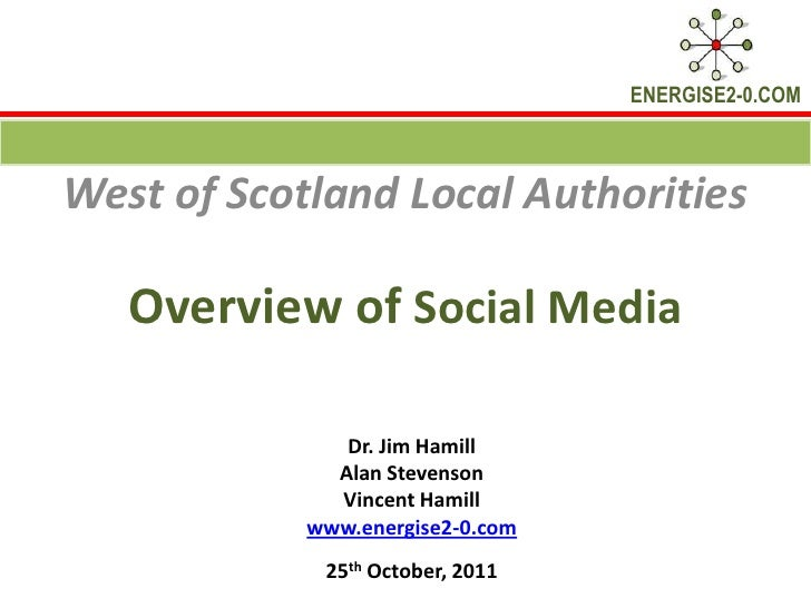 ENERGISE2-0.COMWest of Scotland Local Authorities   Overview of Social Media               Dr. Jim Hamill              Ala...