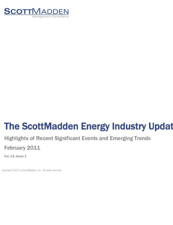 ScottMadden Energy Industry Update February 2011